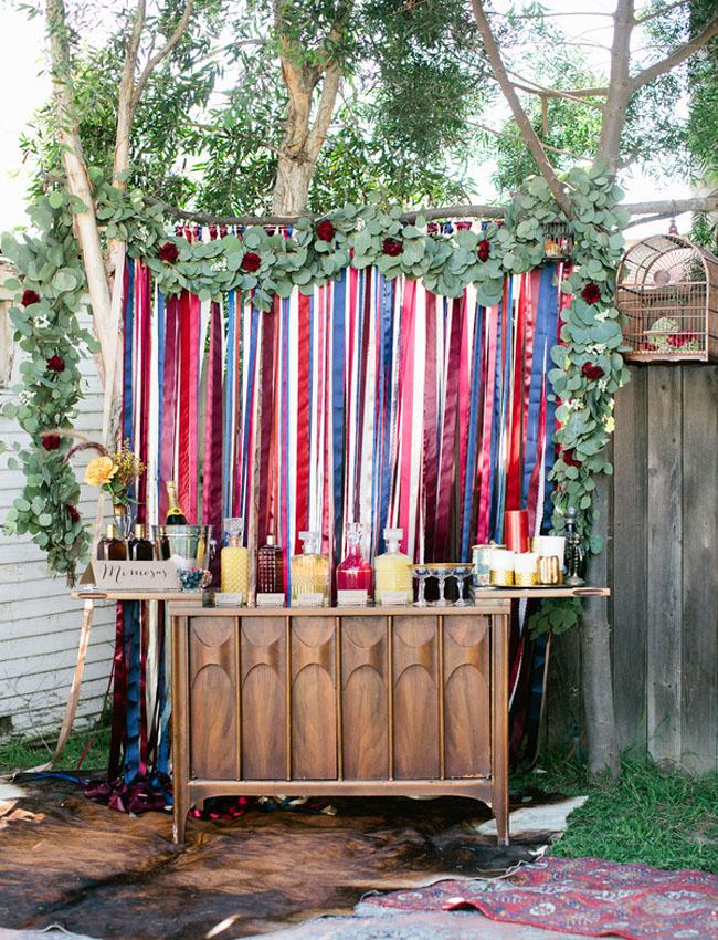 Bohemian Backyard Bridal Shower Inspiration Green