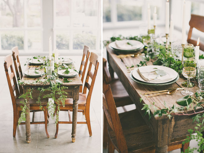botanical tablescape
