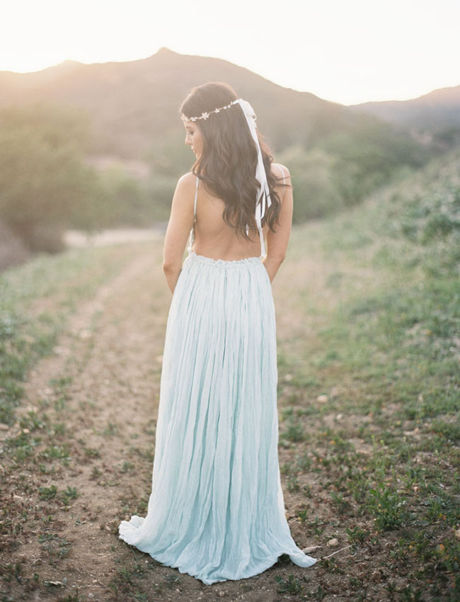 Whimsical romantic engagement session laura rob for Shoes for maxi dress wedding