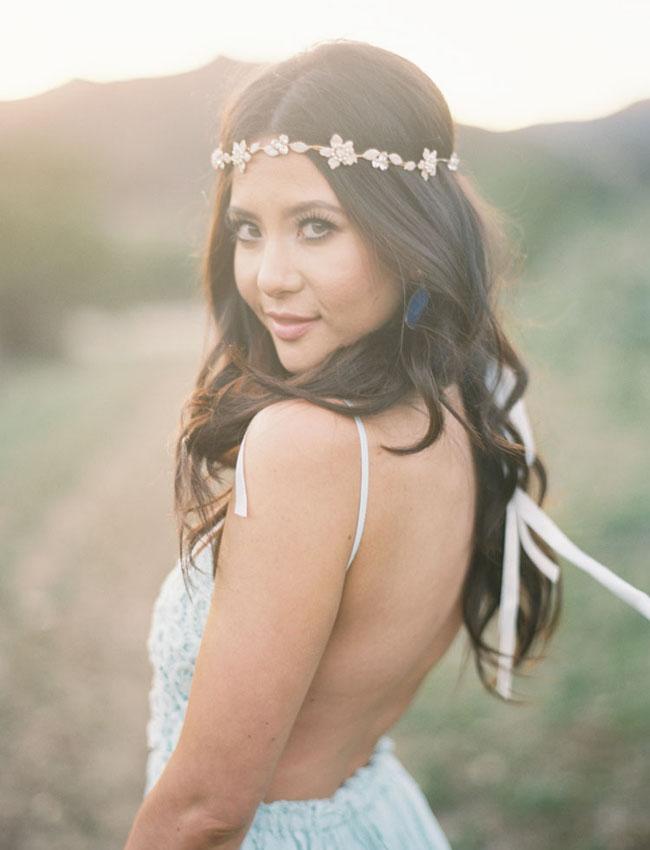 jeweled hair crown