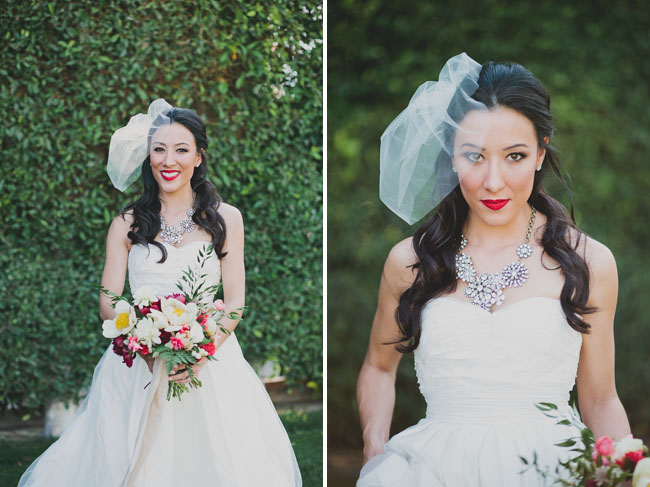 red lip bride