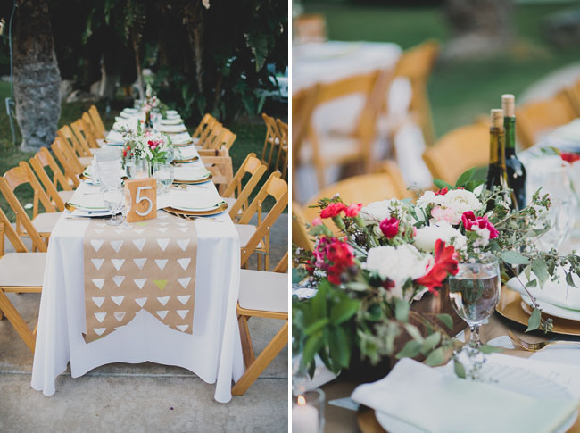 triangle table runners