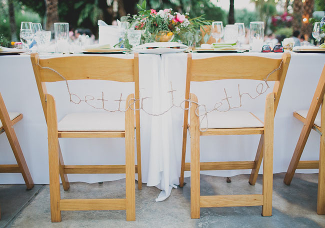 better together chair decor