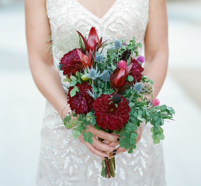 red PS bouquet