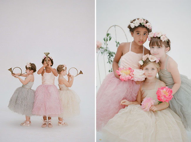 Doloris Petunia flower girl dresses