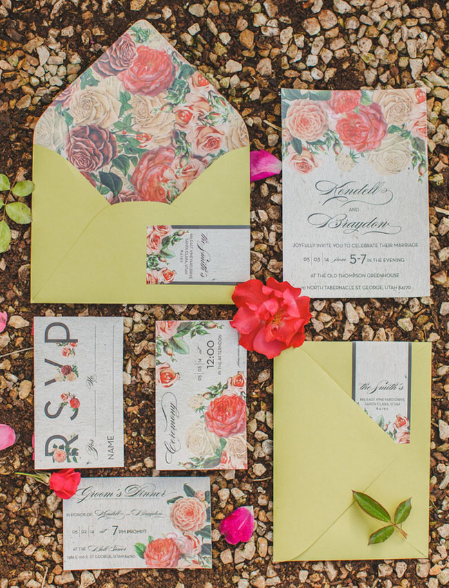 floral invitation greenhouse