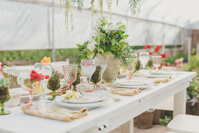 greenhouse tablescape