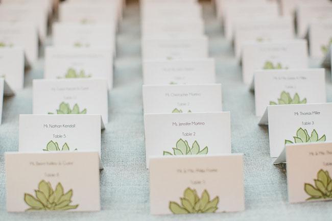 succulent escort cards