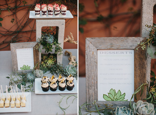 concrete block dessert table