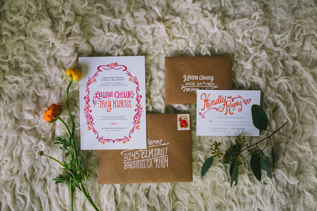 macrame inspired invitation