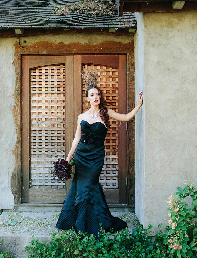 Maleficent black dress