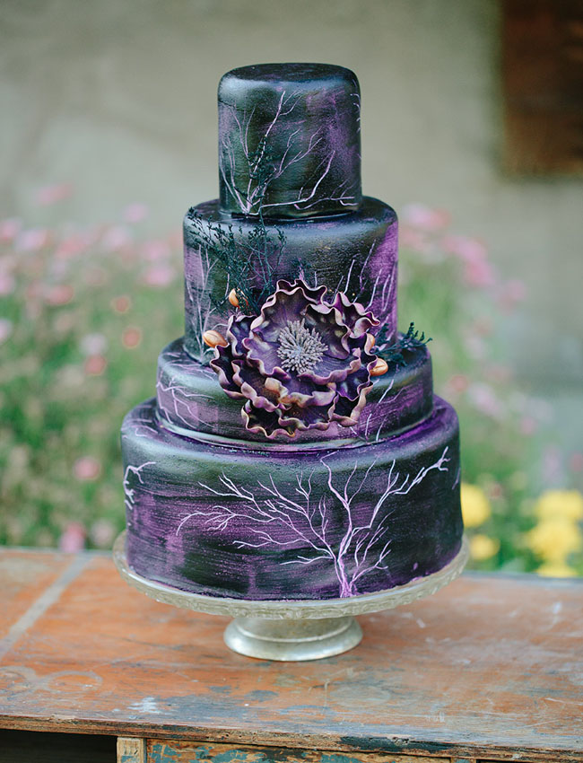 Maleficent inspired cake