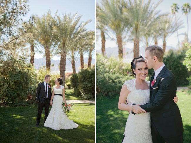 Glam garden wedding at the parker palm springs elizabeth for Green spring gardens wedding