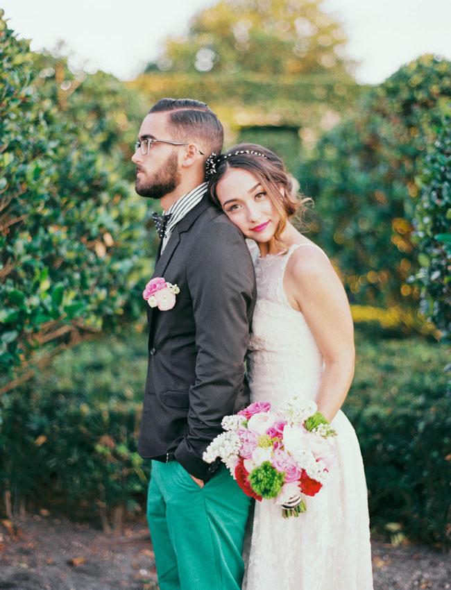 green groom pants