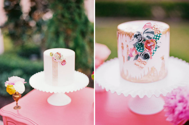 painted floral cakes