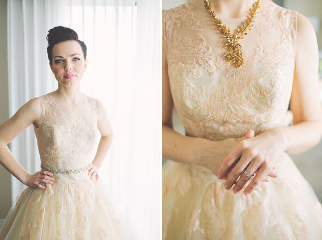 lace tulle dress