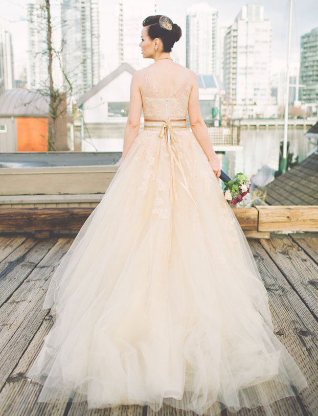 food truck wedding tulle dress
