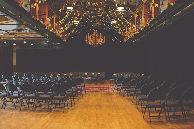 dramatic ceremony space