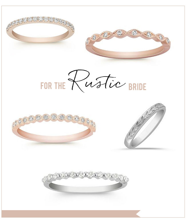 Rustic Wedding Rings from Shane Co.