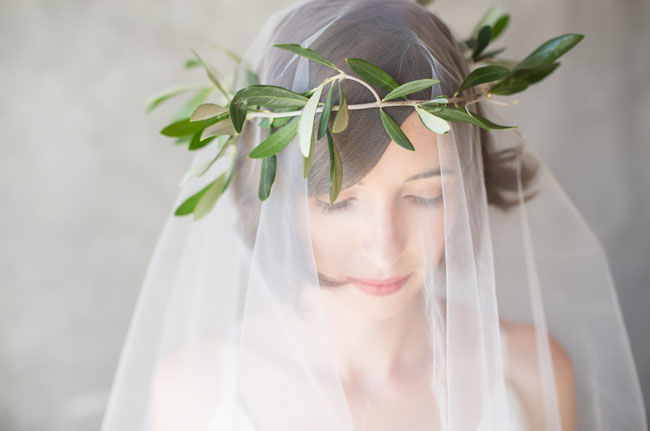 olive branch flower crown