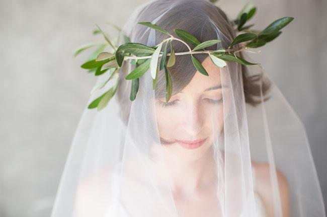 olive branch flower crown