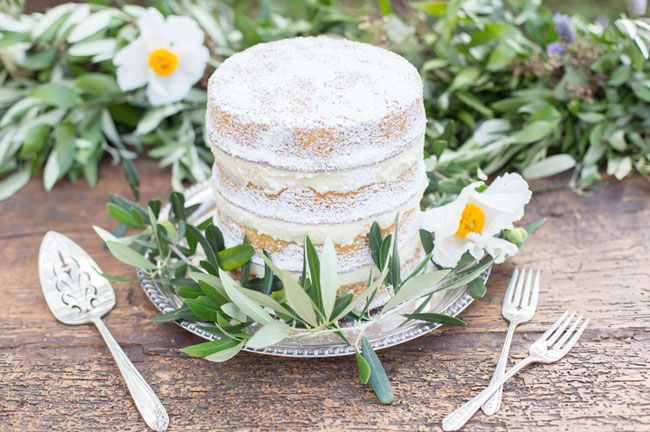 naked powdered cake
