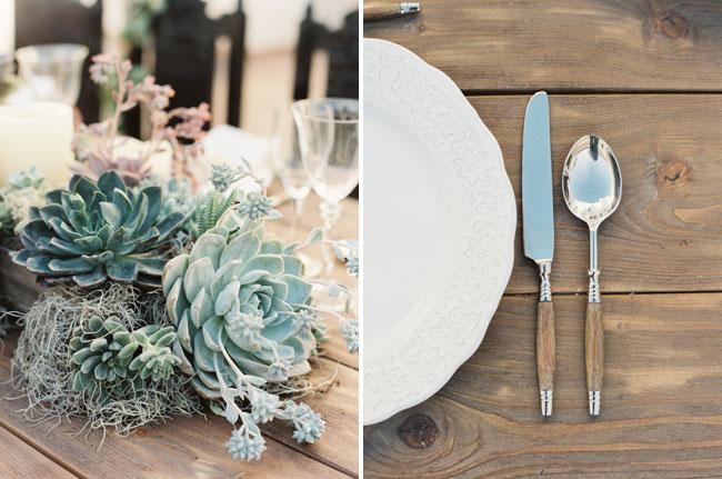 succulent tablescape