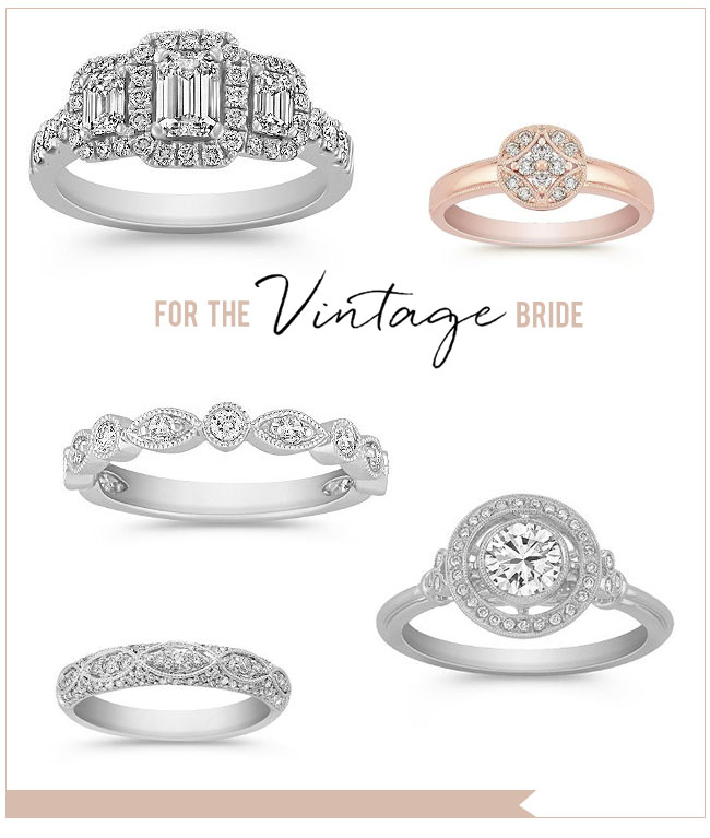 Vintage Wedding Rings from Shane Co