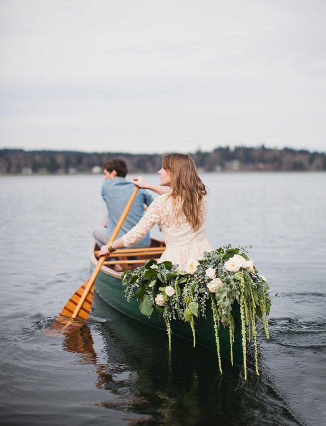 vintage canoe engagement