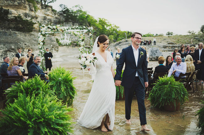 wedding in a river