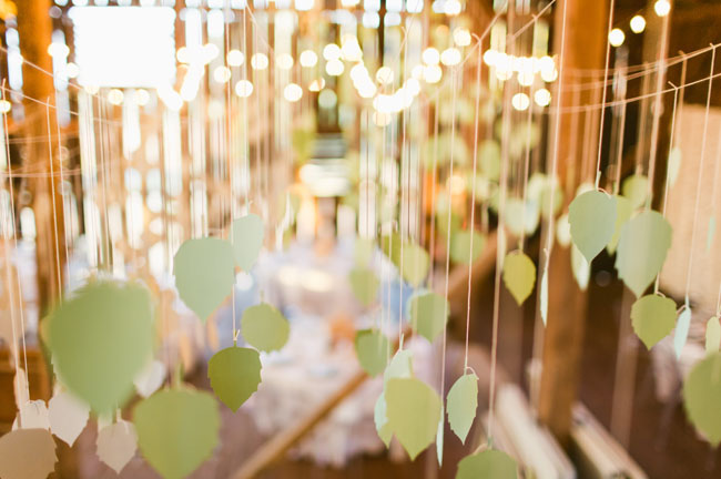 hanging paper leaves