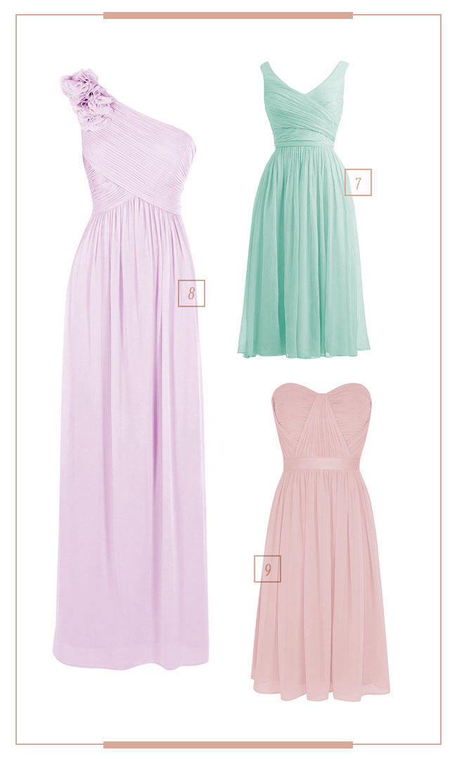 For Her and For Him Bridesmaids Dresses