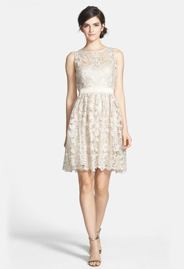Lace Fit Amp Flare Dress Green Wedding Shoes