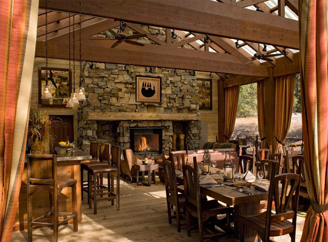 Dining Cabin at The Resort at Paws Up