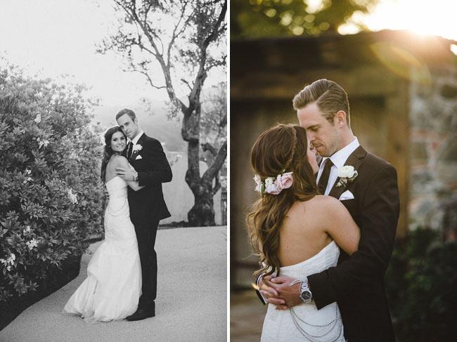 bachelor mansion bride and groom