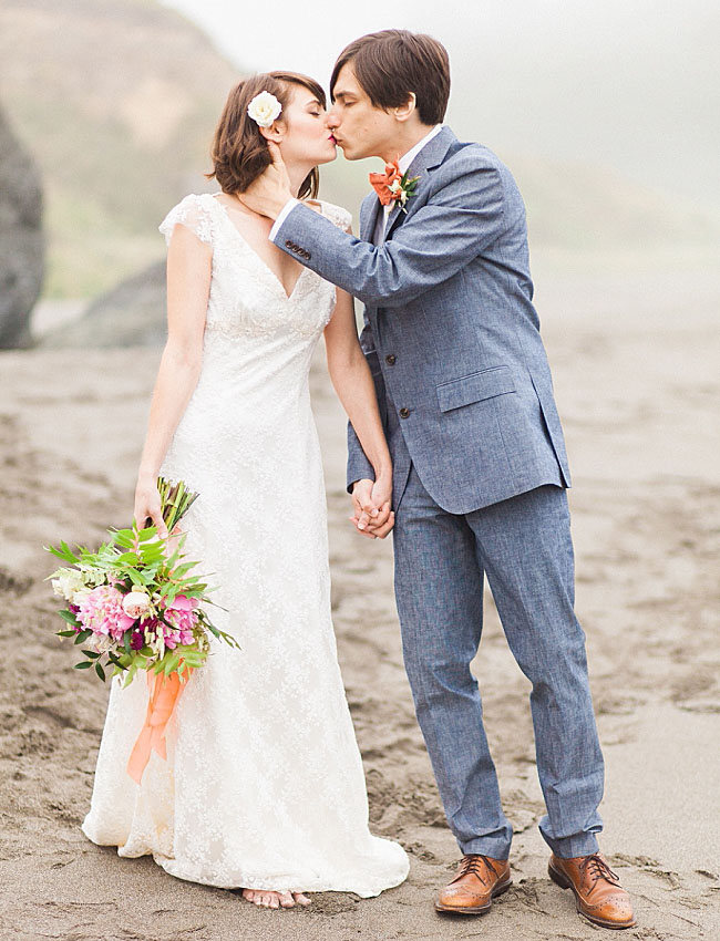 morning beach elopement