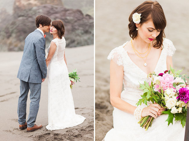 morning beach elopement