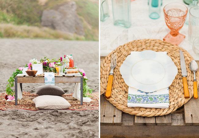 beach elopement breakfast
