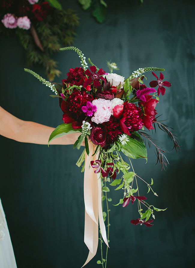 berry inspired bouquet