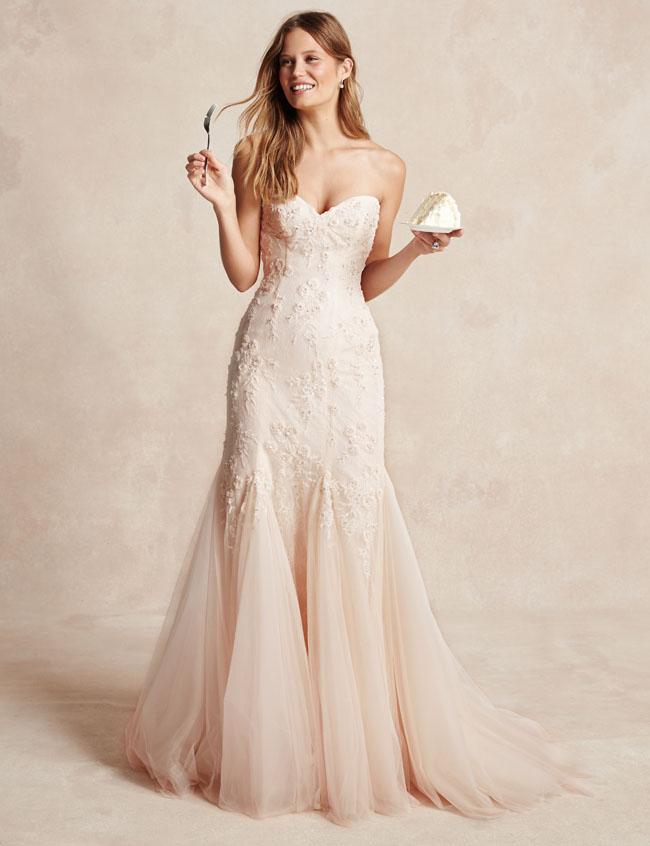 Monique lhuillier bliss lace dress