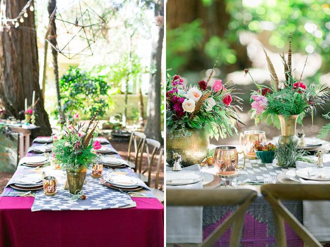 vibrant bohemian wedding inspiration. Black Bedroom Furniture Sets. Home Design Ideas