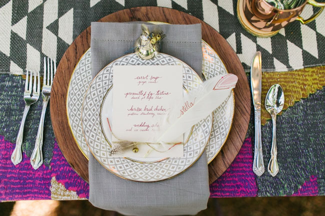 bohemian feather plating