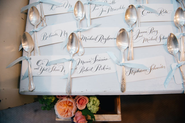 vintage spoon escort cards