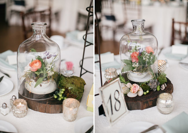 glass dome flowers