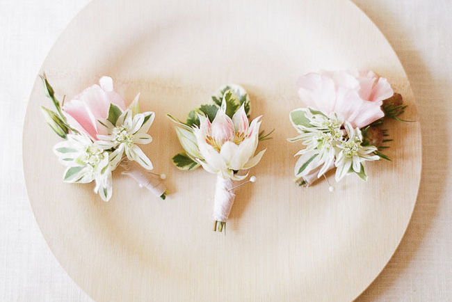 Diy silk flower boutonnieres green wedding shoes diy summer floral boutonniere mightylinksfo Choice Image