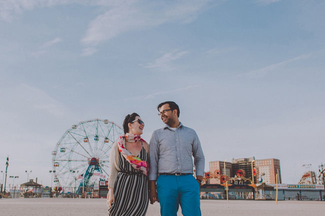 Coney Island Engagement