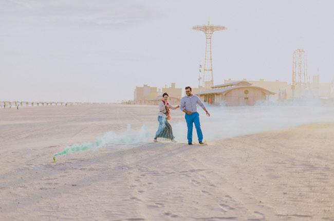 color smoke bombs