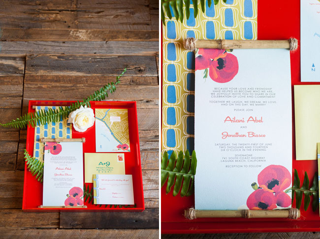 summer inspired invitation