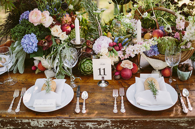 Southern farm to table wedding inspiration green wedding - Decoration champetre pour mariage ...