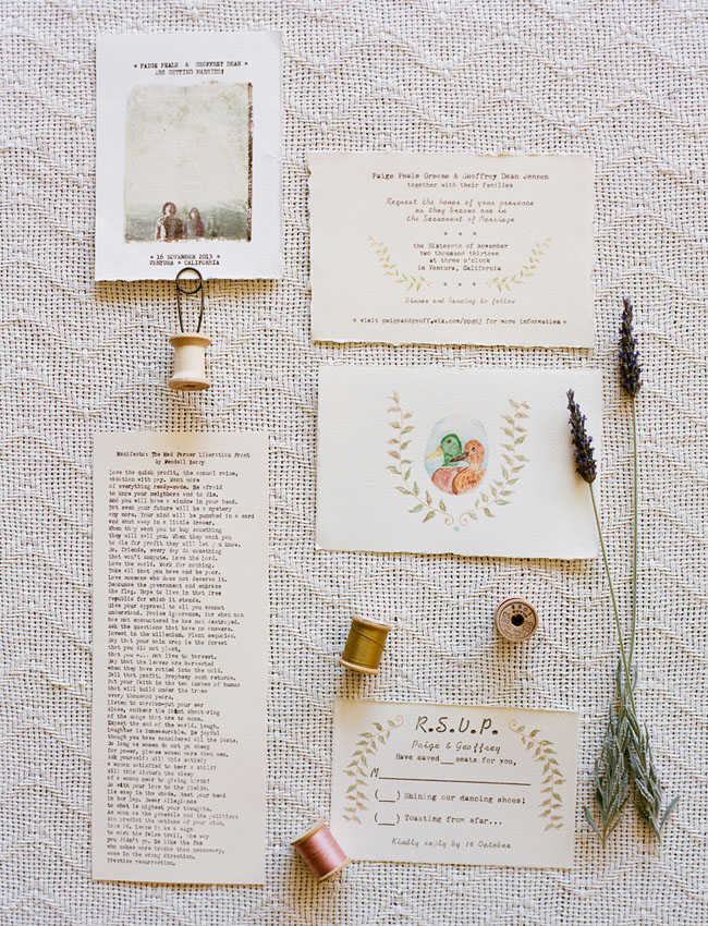 vintage inspired invitation